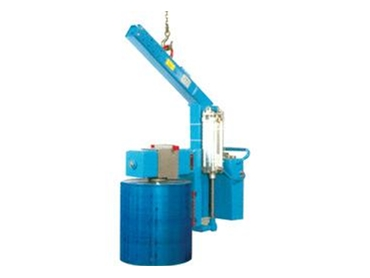 A crane suspended roll/reel lifter & rotator