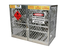 Aluminium gas cylinder store