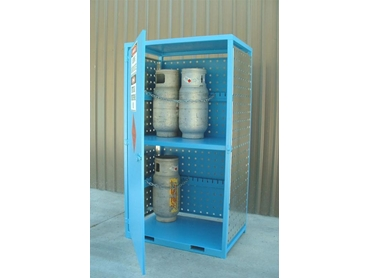 Security gas cylinder cabinet
