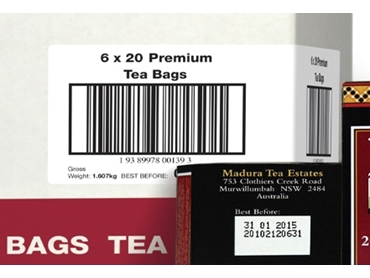 Carton Bar Code Labelling with Label Printer Applicator