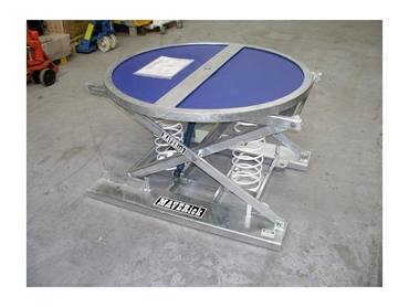 Palift spring operated scissor lift table from Maverick Equipment