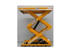 Double scissor lift tables from Maverick Equipment