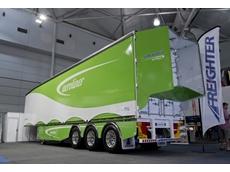 Freighter's AeroLiner trailer on display in Brisbane
