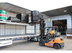 The new Auto Mezz Deck from Freighter can easily fit four standard pallets with room to spare and no need for side shift