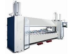 Swing beam folding machines