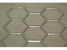 Hexagonal embossing gives strength to thin sheet