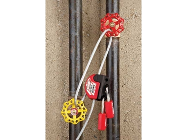 Master Locks Cable Lockout available from Mayo Hardware