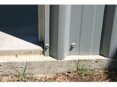 'Rebated concrete slab' system for Sheds