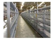 Long span shelving systems