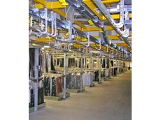 Monorail overhead conveyors are ideal for hanging garmet storage