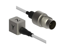 Dytran Series 3493A can be easily mounted in spaces that are inaccessible to other types of triaxial accelerometers