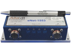The Alta Data eNeT-1553 weighs around 200 grams and is about the size of a four stub coupler