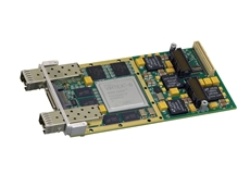 New Acromag XMC module links configurable Virtex-6 FPGA to high-speed PCIe, SRIO, and Gigabit Ethernet interface