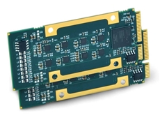 Rugged 8-channel analogue modules with cable-free mini PCIe interface