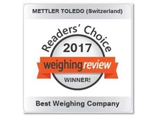Mettler Toledo is Best Weighing Company three years in a row