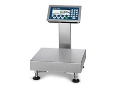 ICS4_9 food scale's weighing terminal and column seamlessly welded together with no open cables