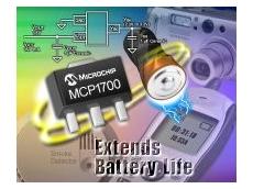 Microchip Technology's MCP1700 low dropout regulator