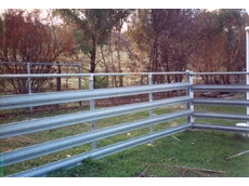Maintenance free K-Rail Rural Steel Fencing