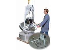 Operator handling Aluminium coils using- VacuMaster-VM Coil vacuum lifter