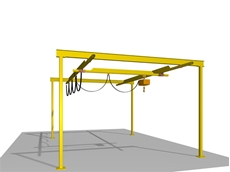 Light capacity track crane system