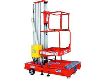 Work platforms are completely adjustable to fit into tight spaces