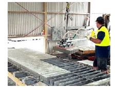 Vacuum Handling of concrete pavers