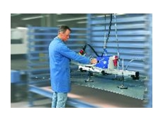 VacuMaster Basic, 250 kg capacity, horizontal, for handling stainless-steel sheets.