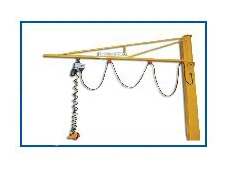 Work station cranes using Modular Low Friction Tracks and Fittings