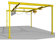 Workstation crane system from Millsom Materials Handling