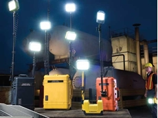 Solar lighting towers