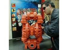 Mono Pumps technician George Kounelis with a newly installed Pro-Flo air distribution system.