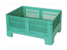 Minibin 8060 vented collapsible bins are ideal for transporting and storing fresh produce