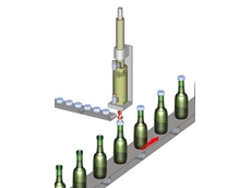 The motor achieves high torque while applying pressure, making it ideal for fitting bottle caps in applications requiring a tight seal