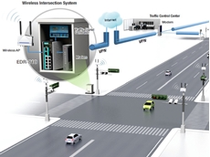 Moxa's EDR-810 industrial multi-port secure router was installed in the roadside cabinet of each intersection to provide secure data transmission