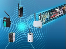 Moxa's high bandwidth wireless products simplify transmission of video data over wireless networks