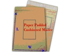 Brown paper postal padded envelopes