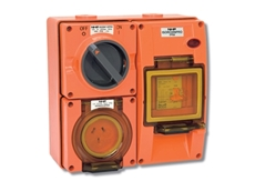 ISO Plugs and Sockets are available in chemical resistant orange