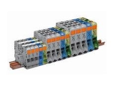 WAGO rail mounted terminal blocks