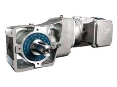 NORD's new two-stage helical bevel gear units can be easily cleaned in any installation position