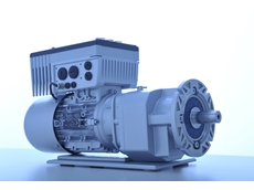 A geared motor with an SK 200E inverter from NORD