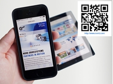 The re-designed NORD website adapts to mobile devices, providing easy instant access to information on drive systems
