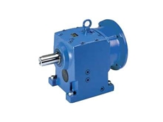 NORD Unicase helical inline gearbox complete with an IEC electric motor adaptor