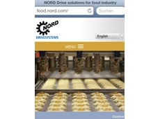 food.nord.com provides a clearly structured introduction to drive solutions for the food industry via tablet computers or smartphones