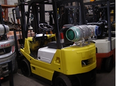 Auction sale of second hand Mitsubishi and Crown forklifts from NSW Lift Trucks