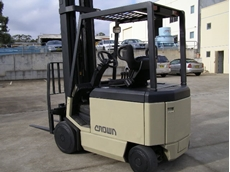 Crown sit down ride on counterbalance forklifts