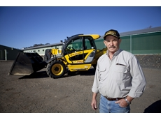 Poultry farmer, Frank Janvrin with his New Holland LM740 telehandler