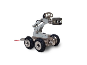 The Riezler FWL100 is an extremely solid and efficient steerable crawler suitable for pipe inspection from 100mm.