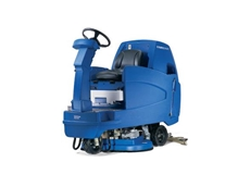 SCRUBTEC R 5 ride on scrubber dryers can be equipped with a traditional steering wheel, or an I-Drive joystick control