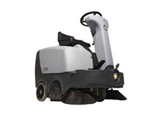 Nilfisk-Advance SR 1000S ride on sweepers are compact and work fast