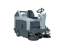 SR 1301 B ride on sweepers are available in petrol and battery powered models
